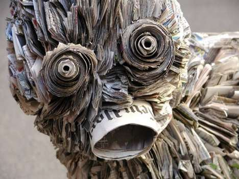 Newspaper Waste Sculptors