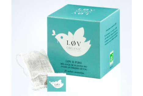 lov organic tea packaging