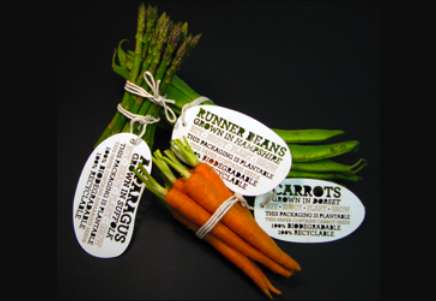 Plantable Produce Packaging - Vegetable Labels by Ben Huttly Break Down Then Burgeon