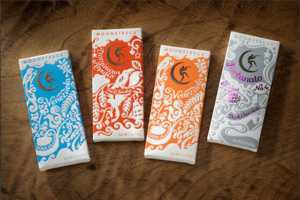 The Sweet Moonstruck Chocolatier Wrappers by Sandstrom Partners