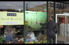 Touchscreen Storefronts - The Starbucks Interactive Window Display Turns Heads