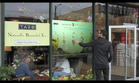Starbucks Interactive Window Display