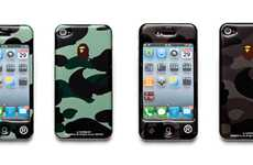 Militaristic Designer Covers - Glam Up Your Mobile With the Bathing Ape iPhone Case