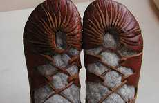 DIY Leather Footwear - Learn How to Make Hand-Made Viking Shoes From 'Earth and Living'