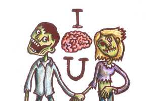 Zombie Valentine's Day Cards by Elliot Quince are Sweetly Strange