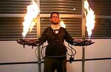DIY Flamethrower Gloves Give you a Superhero Power