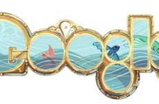 Interactive Google Doodles - The Google Logo Gets an Interactive Nautical Makeover