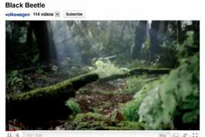 The Volkswagen Black Beetle 2011 Ad Gives YouTube a Makeover