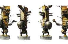 Metallic Steampunk Infants - Guillermo Rigattieri Brings a Mechanical Aesthetic to His Work