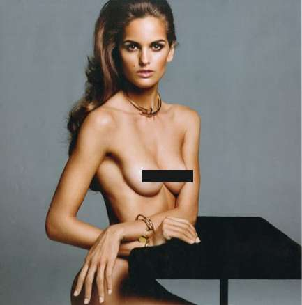 purple naked with izabel goulart