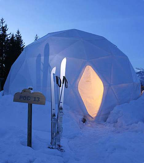 Eco-Friendly Pod Hotels (UPDATE) - The Whitepod Hotel is Igloo-Chic and Environmentally Friendly