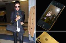 $35,400 Golden iPhones - Victoria Beckham's Golden Stuart Hughes iPhone Redefines Luxury