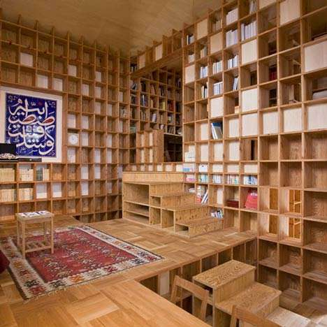 Gridded Interior Abodes - Kazuya Morita Designs a Haven for Bookworms