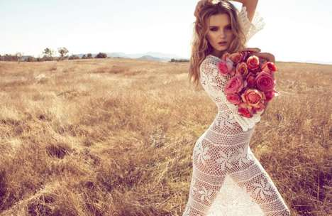 Sultry Field Photoshoots - Camilla Akrans & Lily Donaldson Collaborate on a Shoot for Monsoon