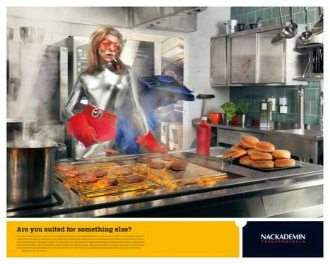 Conspicuous Career-Change Ads - The Nackademin Ads Feature a Creative Way to Promote Schooling