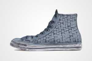 The John Varvatos Spec Hi Sneaker is Intricately Interlaced