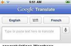 Interpretive iPhone Apps - The Google Translate App Breaks Down Communication Barriers