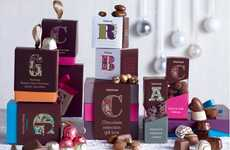 Calligraphic Candy Branding - Waitrose Christmas Packaging Prepares Delicious Graphic Design