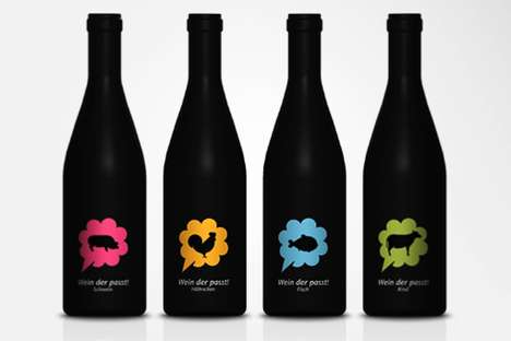 Sommelier Booze Branding - Pictogram Wine Bottles Pair Your Seafood with Your Sauvignon