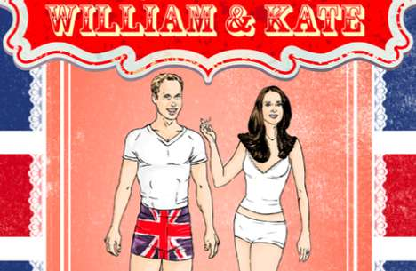 william and kate dress up dolly book