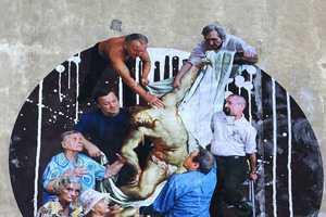 Yola Celebrates Seniors in His Renaissance-Inspired Street Art