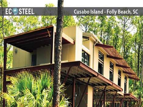 Prefab Disaster Housing - The Cusabo Island Home is an Off-Grid Residence Fit for the Apocalypse
