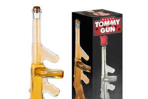 Intimidate Guests With the Awesome Glass Tommy Gun