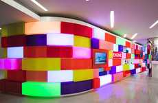 Acrylicize's Mosaic Installation Features Color Changing Lights