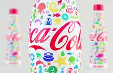 Cartoon Bottle Branding - The Shamil Ramazanov Coca-Cola Bottle Makes You Feel Like a Child Again