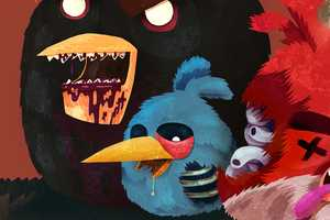 Tomasz Kaczkowski Turns the Angry Birds Gang into Flesh Eaters