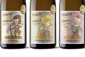 The Spanish White Guerrilla Labels Feature Quirky Characters