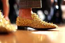 Seriously Studded Slippers - Christian Louboutin Men's Shoes Look Like Medieval Weapons