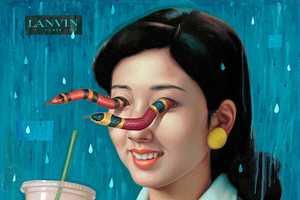 Alex Gross Creates Surreal Retro Japanese Oil Paintings