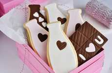 Milk Bottle-Shaped Cookies