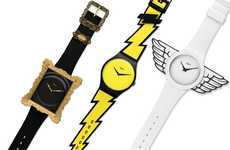 Bold Cartoon Watches - The Jeremy Scott X Swatch Watch Collection is Super Funky