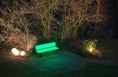 Neon Park Benches