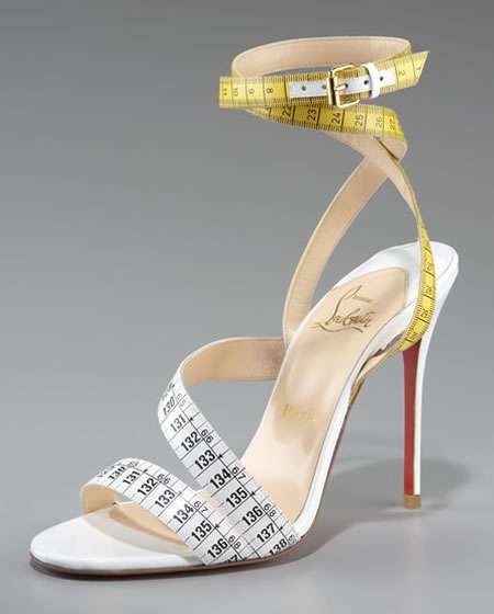 Louboutin Measuring Tape Sandals