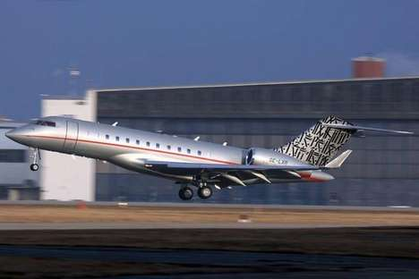 Graffiti Painted Private Jets