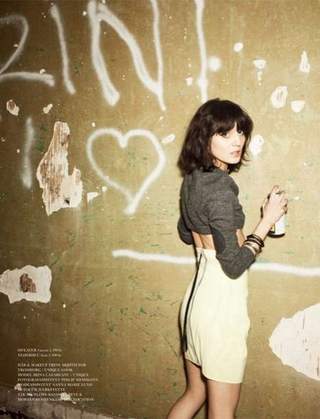 Irina Lazareanu Cover Magazine February 2011