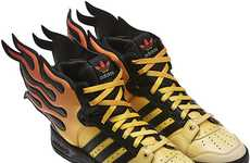 Adidas' Jeremy Scott Flame Shoes Sets Your Feet on Fire
