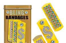 Bejeweled Cut Covers - The Bling Bandages Help Heal Wounds in a Stylish Way