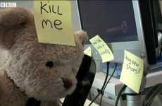 Sorrowful Stuffed Animals - Misery Bear is Back With his Worst Day at Work