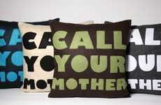 Charming Cautionary Cushions - The Eco-Friendly Alexandra Ferguson 'Good Advice' Pillows