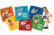 Animated Brew Branding - Sesto Senso Coffee Packaging Serves You Flavor with Personality