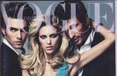 Crotch-Grabbing Covers - The Steamy Anja Rubik Vogue Spain March 2011 Editorial