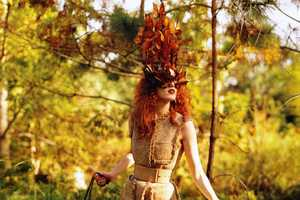 The Karen Elson 'Enchanted Garden' Vogue US March 2011 Shoo