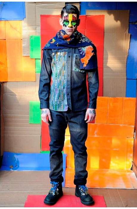 Colorfully Masked Collections - The Petrou Man Fall/Winter 2011 Lookbook is Trippy and Tribal