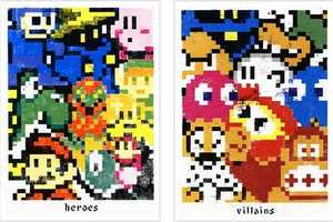 Doe Eyed Design Releases 8-Bit Posters of Classic Gamer Heroes and Villains