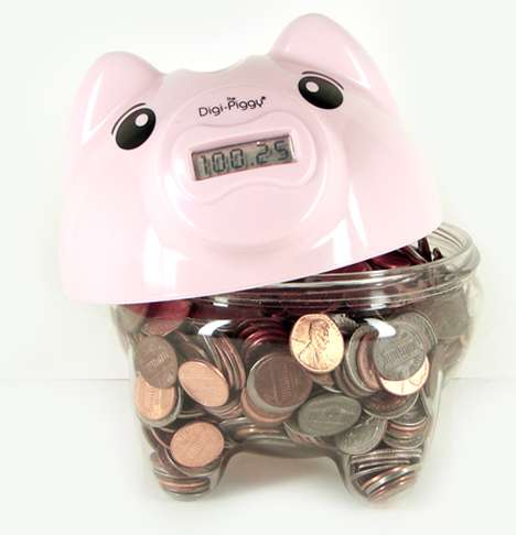 Digital Coin-Counters - The Cute Digi-Piggy Will Count Your Spare Change