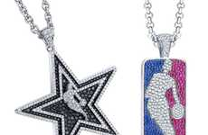 Pricey Sports Pendants - The Blinged-Out Gameplan Concepts NBA Diamond Jewelry